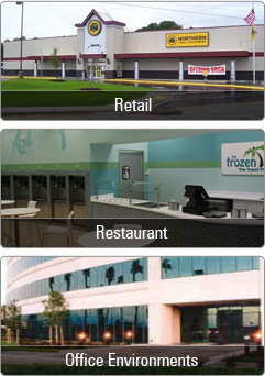 Retail Restaurant office Environments
